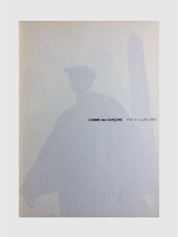 PETER LINDBERGH for COMME DES GARCONS, no.81 le 5 juillet 1983.Catalogue. jon w benedict. instagram.