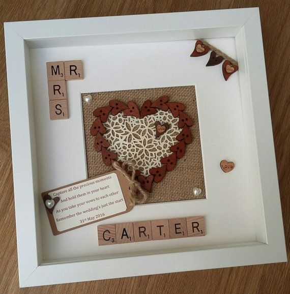 Mr & Mrs Wedding Anniversary Engagement by ScrabbleArtbyLou