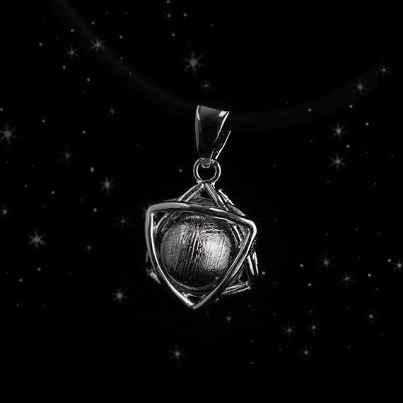 Meteorite Necklace Meteorite Jewelry Hexagram by BravermanOren