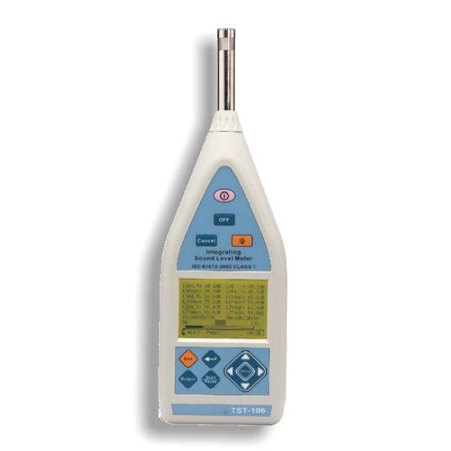 http://www.termometer.se/Handinstrument/Ljudmatning/Ljudmatare-klass-1.html  Ljudmätare klass 1 - Termometer.se  Integrerande ljudnivåmätare uppfyller IEC-61672-2002 KLASS 1 och är lätt att använda  Konkurrenskraftigt pris Dynamiskt område110dB Utmärkt kvalitet TST-106 är högpresterande klass 1 integrera ljudnivåmätare. Den mäter Lxyi, Lxyp, Lxeq, Lxmax, Lxmin, LAE, Lcpeak, Lzpeak funktioner...