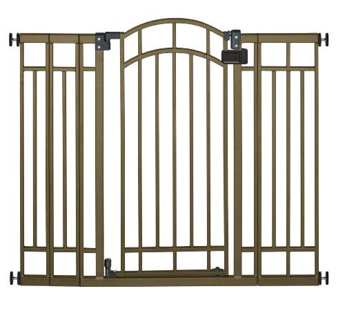 Child proof your home in style with the Summer Infant Multi-Use Deco Extra Tall Walk-Thru Gate. This attractive metal gate is adjustable to accommodate most door openings and stairways. Hardware is in...