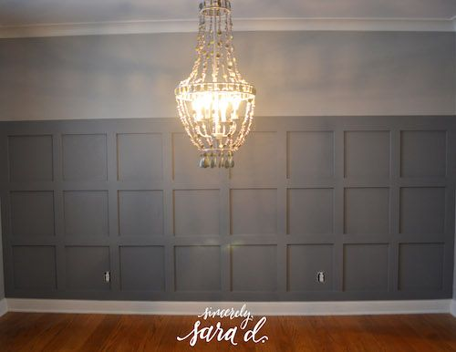 Square Wall Paneling : Dining room wall treatment valspar bathroom and