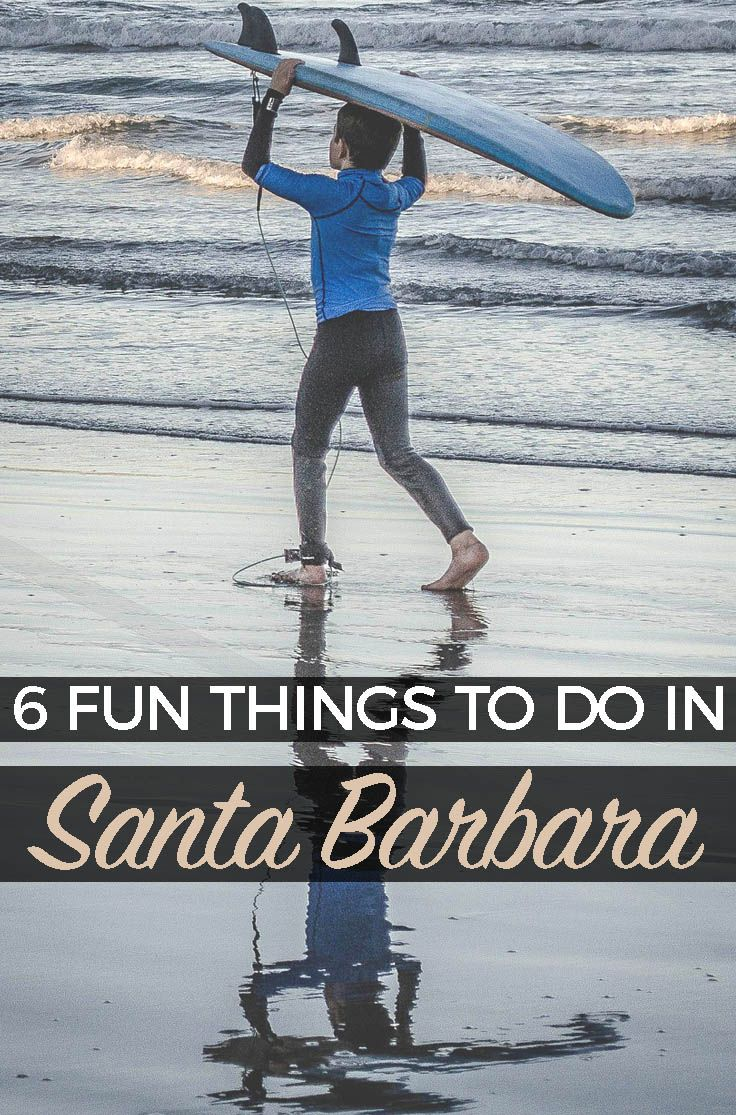 6 Fun Things To Do in Santa Barbara, California  Here are a few of my favorite things to do and see (and eat!) when visiting the city of Santa Barbara and the surrounding area. #santabarbara #california #roadtrip
