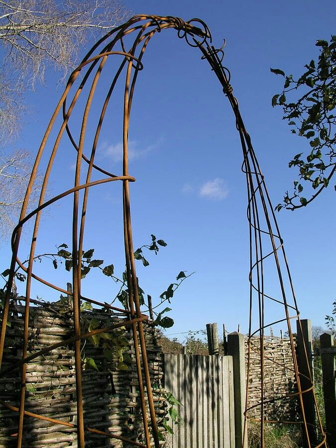 iron pergola - garden (How To Build A Shed With A Loft)