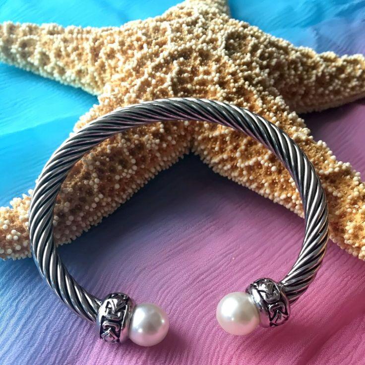Pearl Silver Bracelets #beachstyle #tropical #beachwear #resortstyle #summerstyle