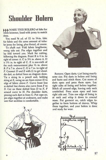 1950's Wardrobe-The Shoulder Bolero | Flickr - Photo Sharing!
