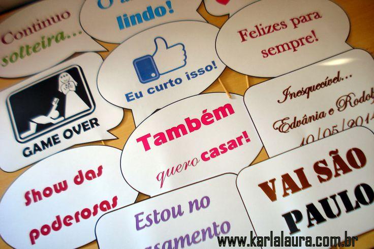 Karla Laura Convites, Lembranças e Papelaria Personalizada: Plaquinhas divertidas, Placa de Reservado e Cardáp...