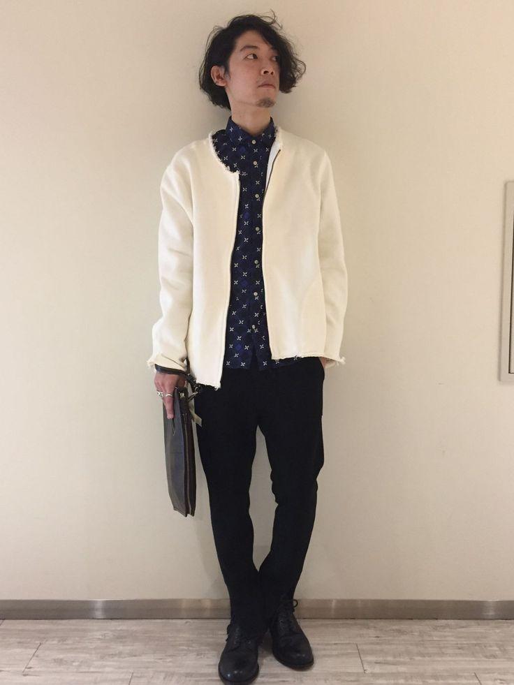 印mathematicsグランフロント大阪店 スリムパンツとコットンジャケットを合わせた エッジの効いたスタイリング