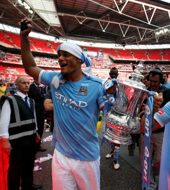 A great day for City fans...first trophy in 35 years!