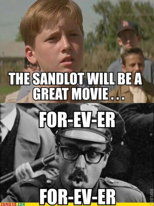 I love The Sandlot. I love Angels in the Outfield. I love A League of Their Own. I love pretty much every baseball movie there is, but those are my top three