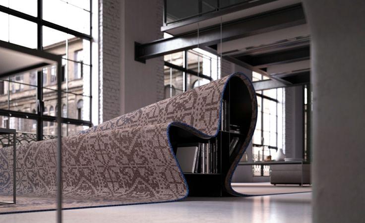 Italienische Designermöbel Alessandro Isola stumble upon sofa teppich sofa bücher