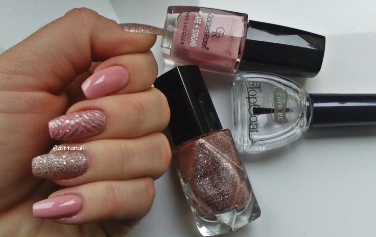 Simple pink manicure- be my valentine