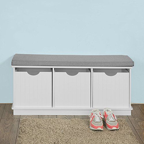 [Toy Storage Ideas] SoBuy Storage Bench With 3 Drawers, Children Storage  Box Unit Toy Chest U003eu003eu003e Learn More By Visiting The Image Link.