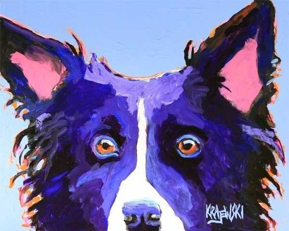 Border Collie print $24.50