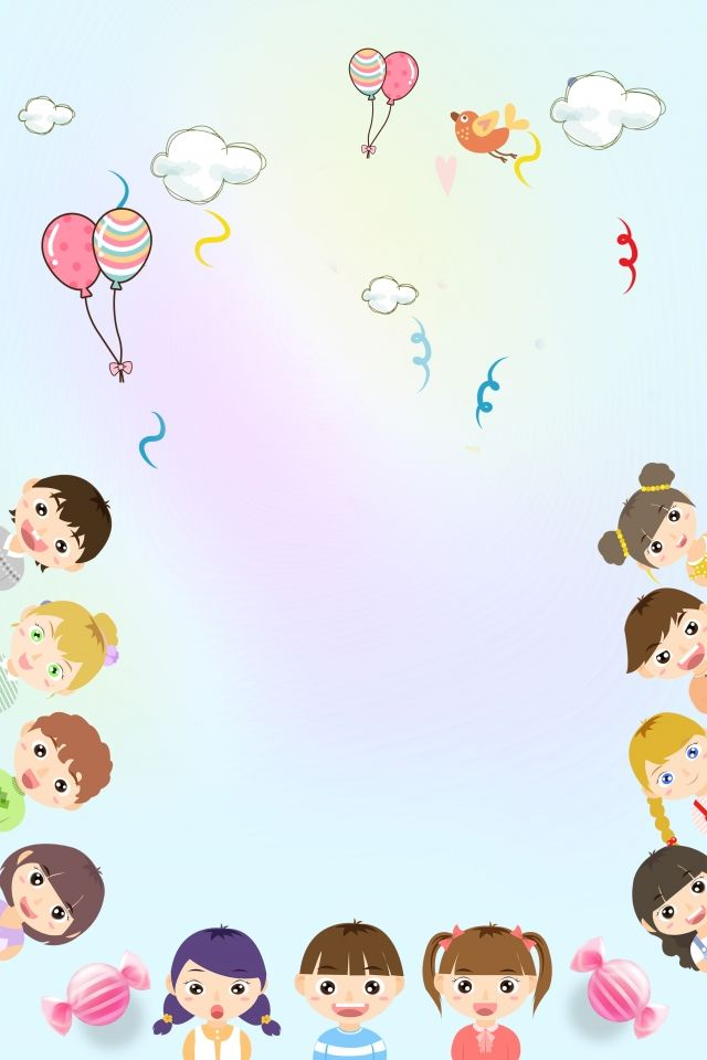 Education Young Child Training Enrollment Kids Background Cartoon Background Education