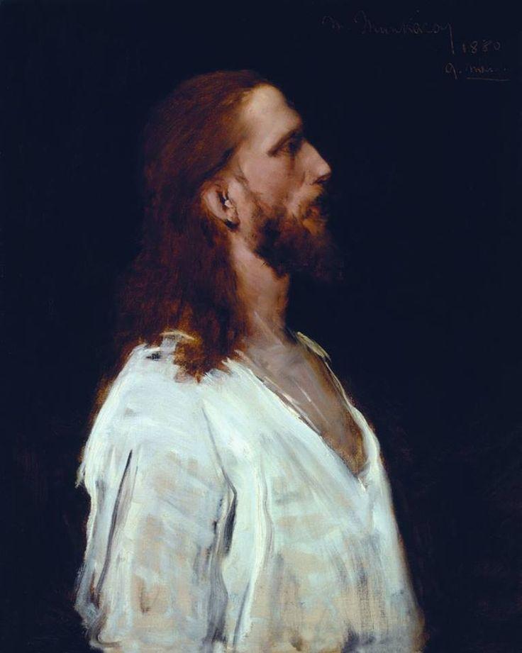 Munkácsy Mihály (1844-1900) - Krisztus alakja, a Krisztus Pilátus előtt című festményéhez - Tanulmány