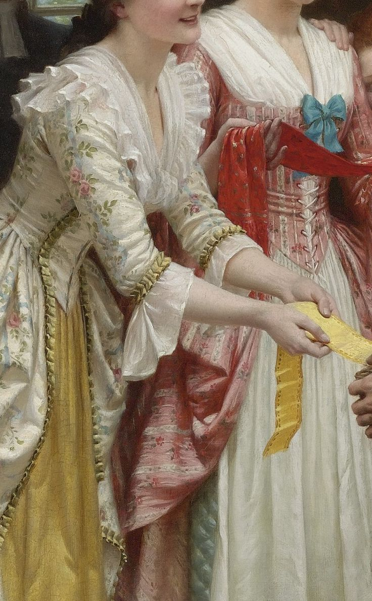 """""""Ribbons and Laces for Very Pretty Faces"""" by Edmund Blair Leinghton"""