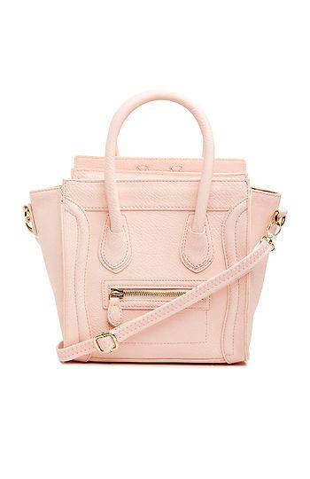 DAILYLOOK Mini Structured Handbag in Blush | DAILYLOOK