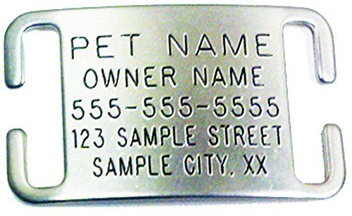 Pet ID Tags for Dog and Cat Collars - Personalized and Engraved Custom Identification Tag - Boomerang Tags - Silent, Durable, and Will Not Fall Off (3/4 Inch Collars, Adjustable, Medium)