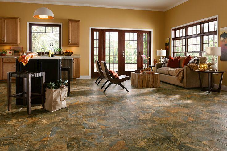 Armstrong Luxury Vinyl Tile : LVT : Italian Earth Slate : Kitchen Ideas : Entryway Ideas ...