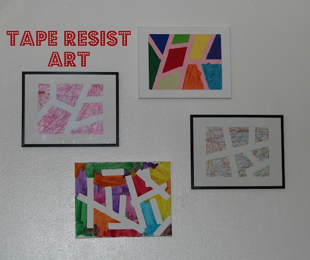 tape resist art