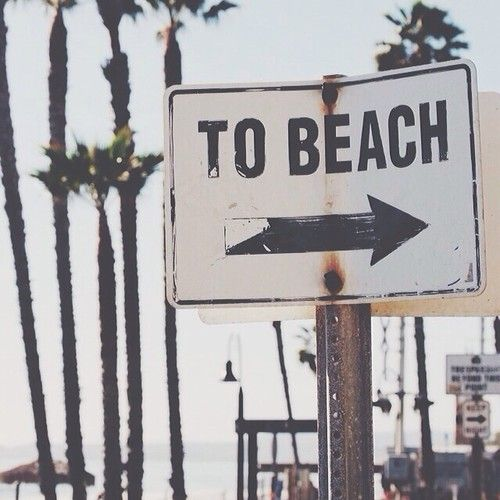 Direction la plage #plage #ocean #panneau #direction #beach #summer #love