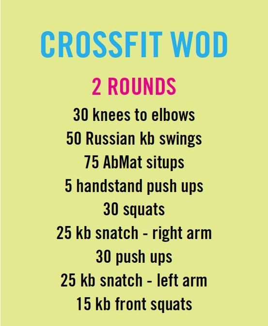 Crossfit workout WOD.
