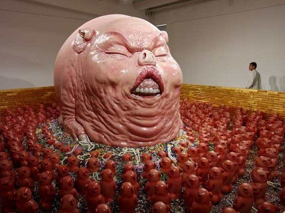 The God Of Materialism By Chen Wenling 2008 Sculpture Art Chen