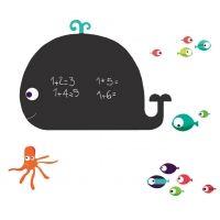 Kidzsupplies | Nouvelles Images muursticker krijtbord walvis groot | Webwinkel voor baby- en kinderkamer decoratie