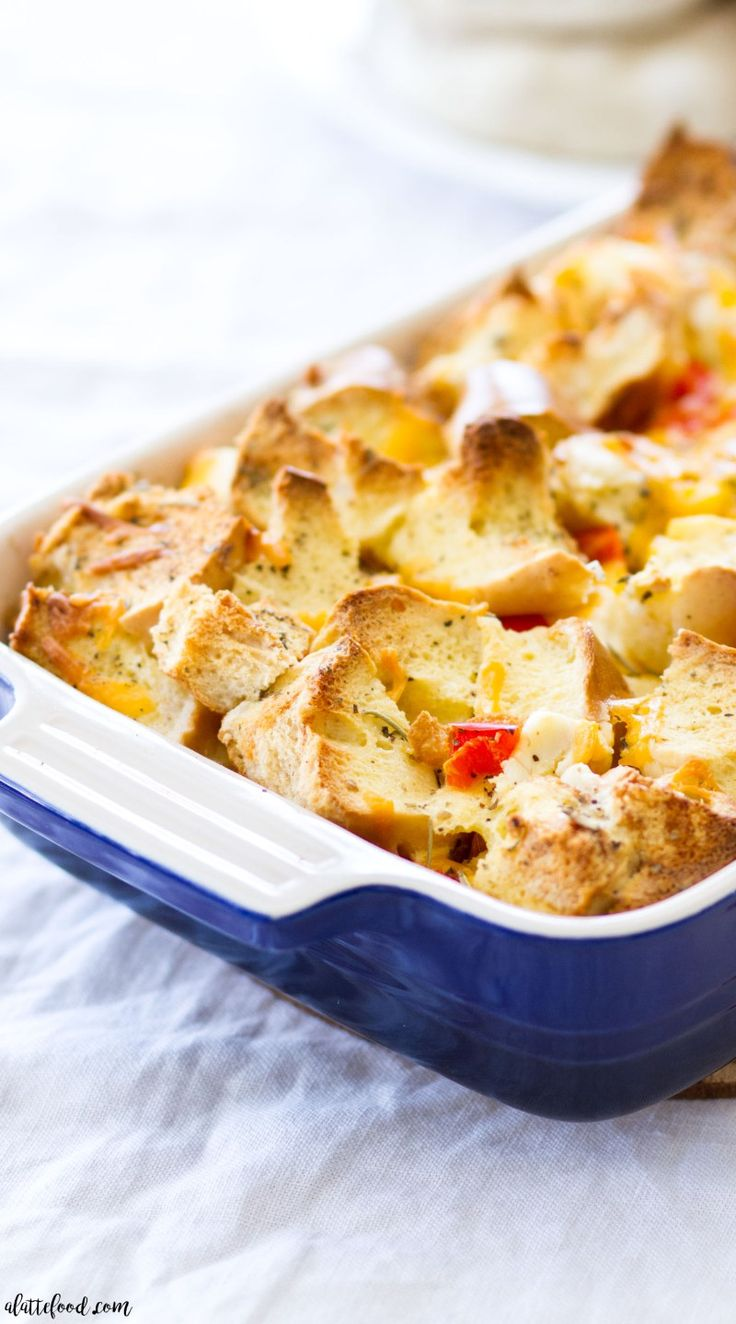 Savory Bagel And Cream Cheese French Toast Casserole