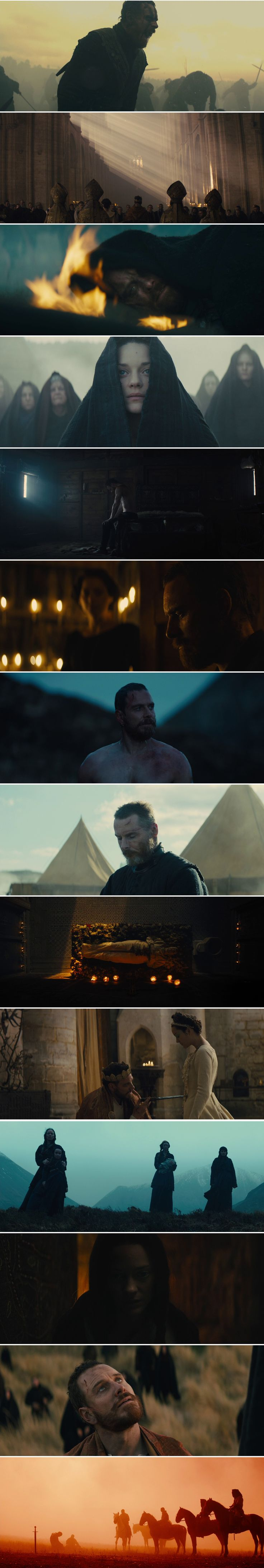 Macbeth (2015) Directed by Justin Kurzel. Cinematography by Adam Arkapaw.