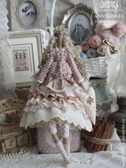 Куклы Тильды ручной работы. Ярмарка Мастеров - ручная работа Лоретт пыльная роза. Handmade.