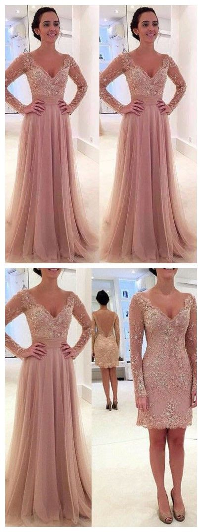 Princess prom dress,Prom dress 2016,Tulle prom dress,V-neck prom dress,Lace prom dress,Elegant prom dress,