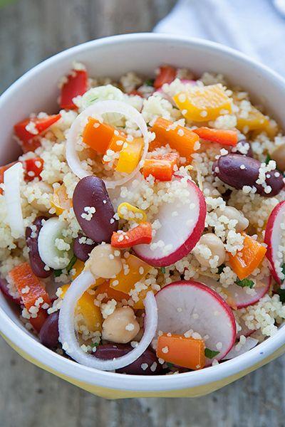 Couscous estivo con peperoni e verdure