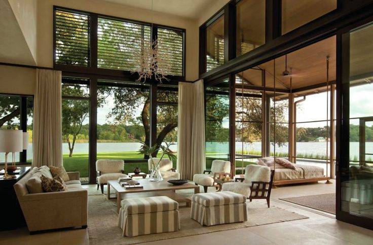 Interior Inspiration: 10 Award-Winning Standouts Sliding glass walls, steel louvers, and limestone flooring blur the lines between the living room and porch