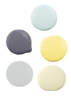 Yellow, Gray, Blue Color Scheme