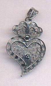 Portuguese filigree traditional design - Viana's heart.