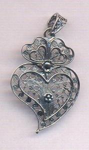 Portuguese filigree traditional design - Viana's heart.