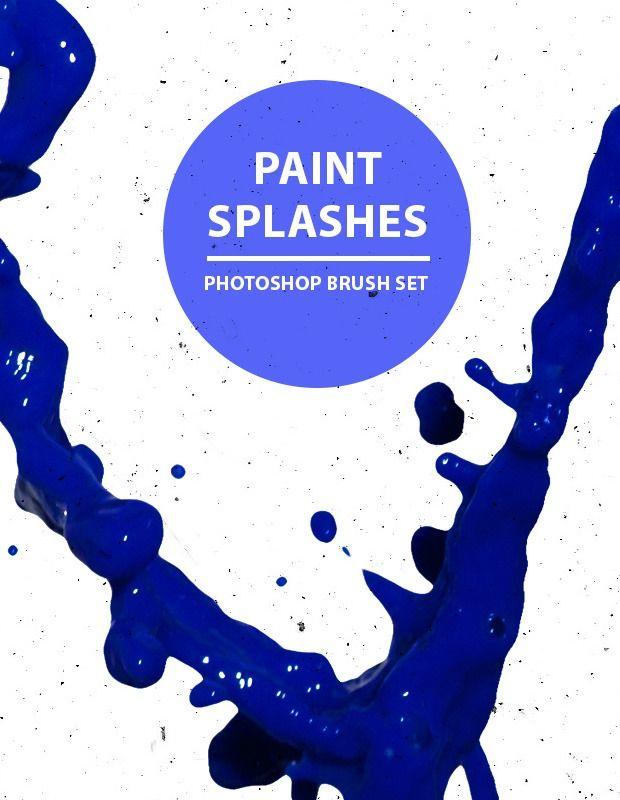 Paint splashes free Photoshop brush set