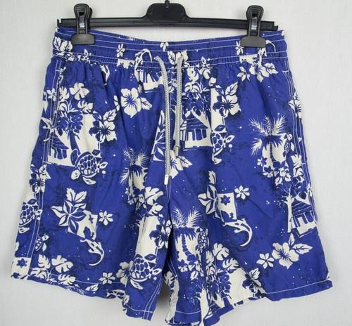 VILEBREQUIN Mens Swim Trunks XL Turtle Floral Island Print Moorea Board Shorts