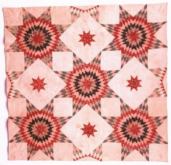 Sunburst Star and Puritan Star Quilt, c. 1839, by Sarah Kyle. The DAR Museum Collection: Quilts of a