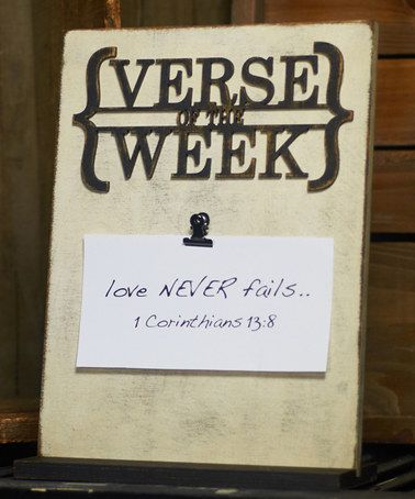 Another great find on #zulily! White Hand-Painted Verse of the Week Plaque #zulilyfinds