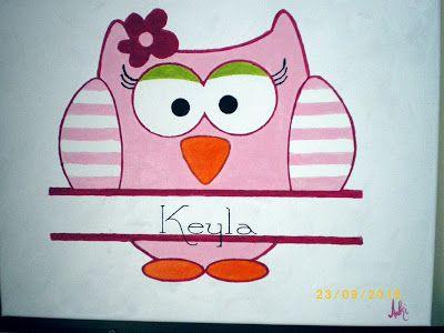 Freebie Sunday, week 41, Girl-Owl Painting for Keyla