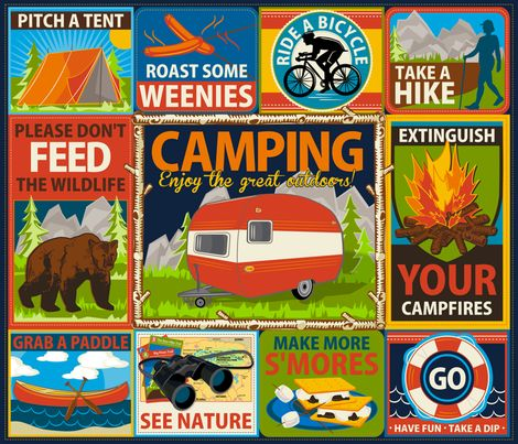 Camping Crests fabric by retrorudolphs on Spoonflower - custom fabric