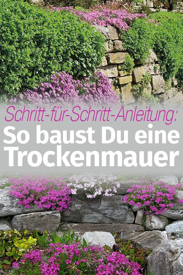 Anleitung Natursteinmauer Bauen Mauern Zäune Sichtschutz