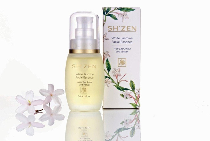 The Sh'Zen White Jasmine Facial Essence - 100% natural, the ultimate skin tonic that restores vital energy to the skin and promotes youthful radiance. http://www.shzen.co.za/face_white_jasmine.php