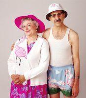 A grandma costume is a fun and easy idea!
