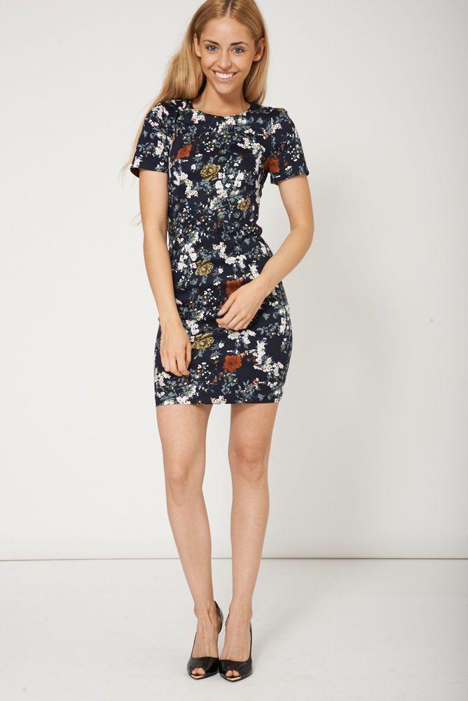 Ladies Floral COTTON DRESS  sizes S,M,L