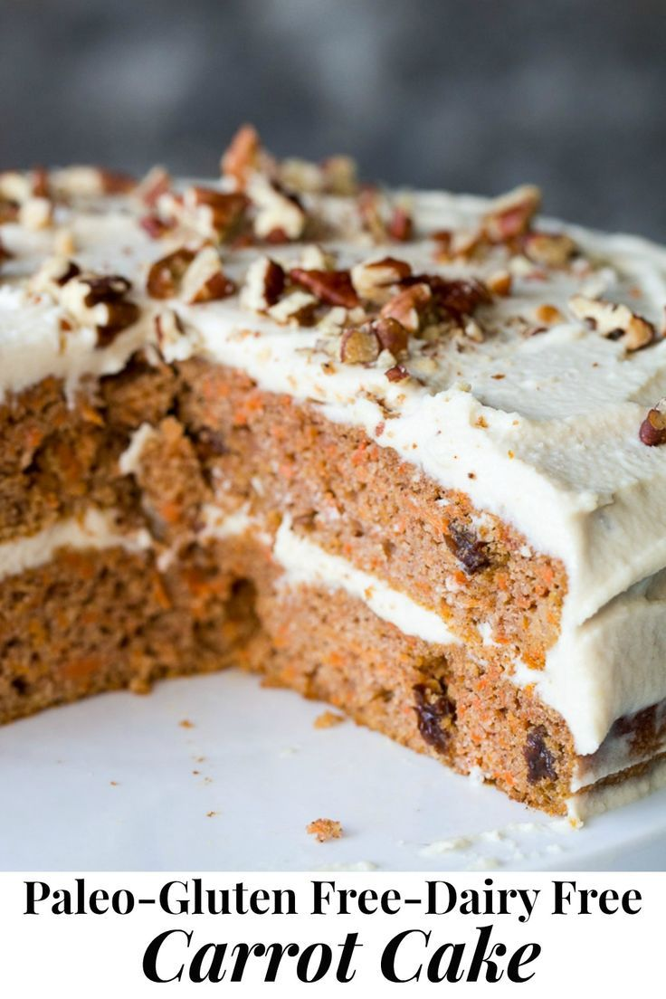 Paleo Carrot Cake With Coconut Cream Cheese Frosting Recipe In 2020 Low Carb Carrot Cake