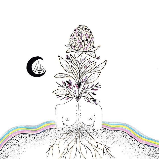 """You carry Mother Earth within you. She is not outside of you. Mother Earth is not just your environment. In that insight of inter-being, it is possible to have real communication with the Earth, which is the highest form of prayer"" -Thich Nhat Hanh Art by MerakiLabbe"